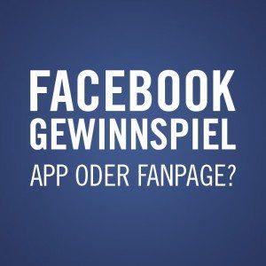 Facebook Chronik Gewinnspiele oder Facebook App