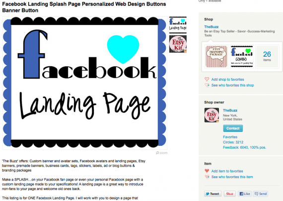 Pinterest Button auf Etsy.com