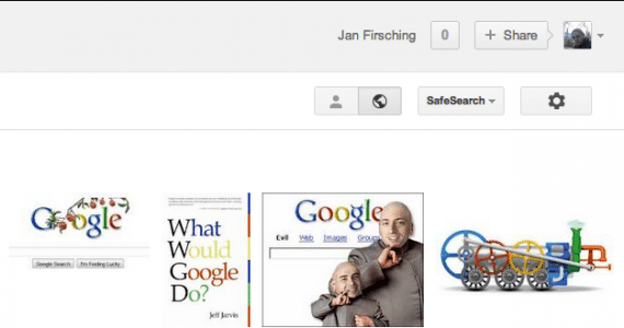 Google+ Share Funktion Suche