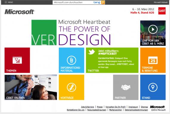 Microsite von Microsoft Deutschland zur Cebit
