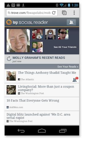 WP Social Reader für Facebook Mobile