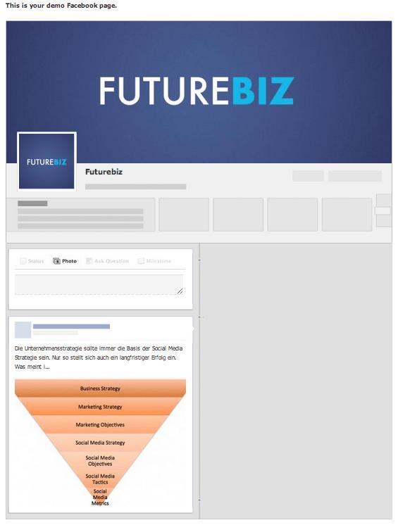 Facebook Demo Tool für Anzeigen Bsp. Futurebiz