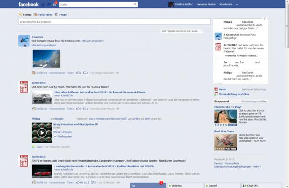Facebook testet neue Newsfeed Ansicht