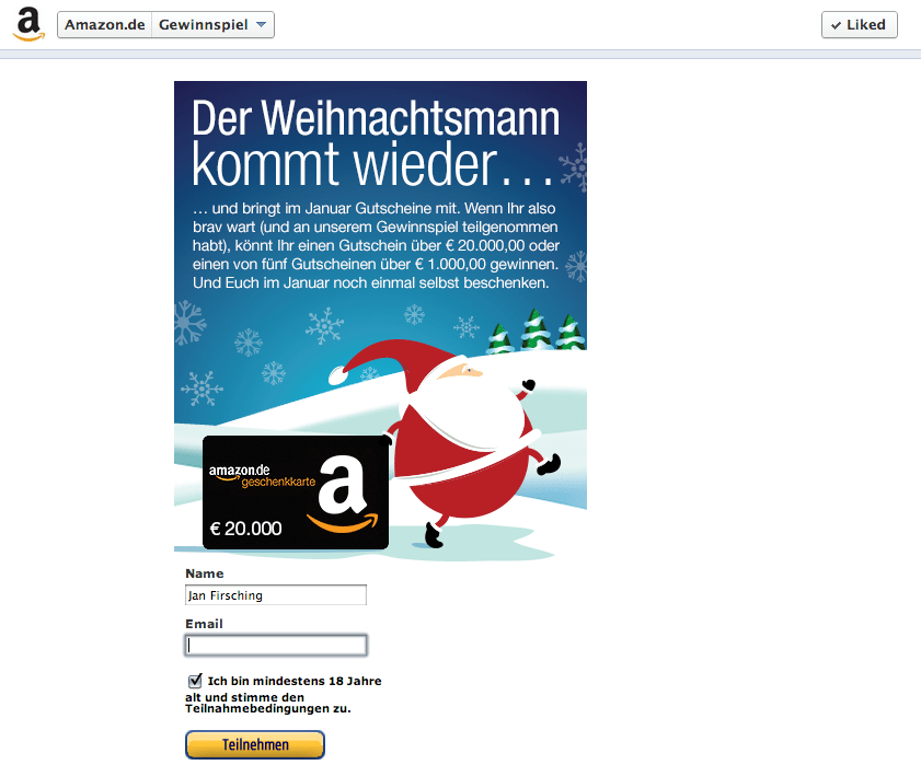 Amazon Kampagne Facebook
