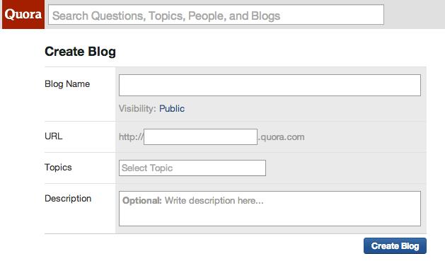 Quora Blog feature
