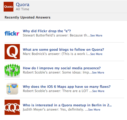 Quora Open Graph Facebook