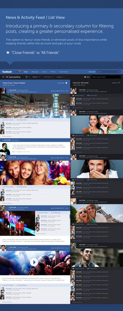 Facebook Designstudie - Fred Nerby II