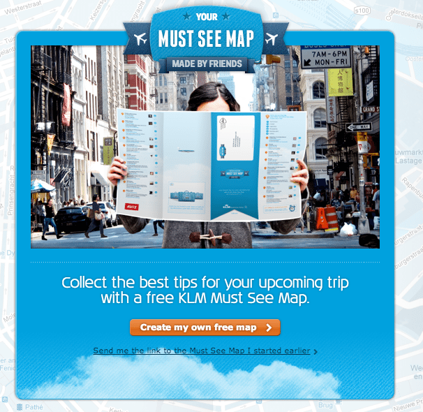 KLM - Social Media Kampagne Must See Map