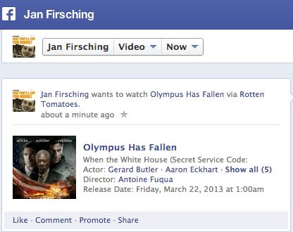 Facebook Chronik - Rubrik Movies and TV