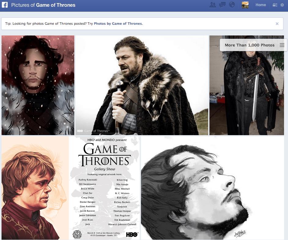 Facebook Suche Vergleich zu Tumblr