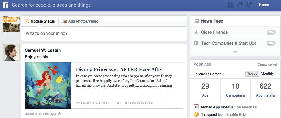 Facebook Newsfeed - Following Feed