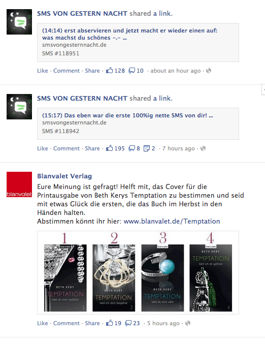 Facebook Seitenfeed (alte Ansicht)