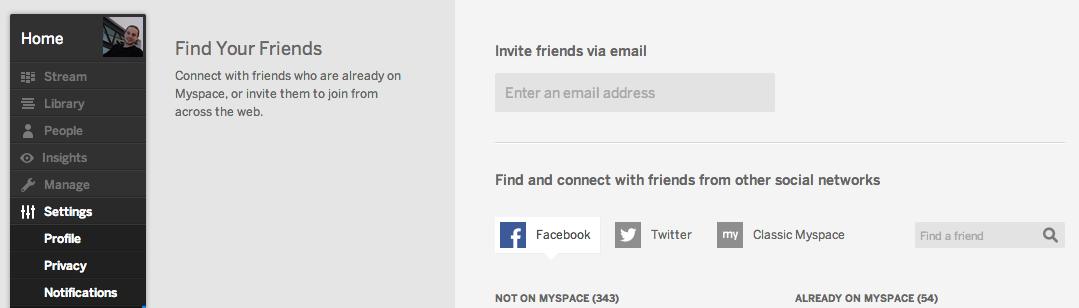 New MySpace - Facebook Freunde finden