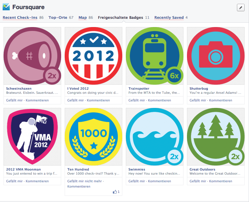 Facebook Chronik Redesign - Open Graph Apps