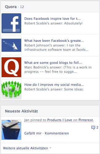 Redesign Facebook Chronik