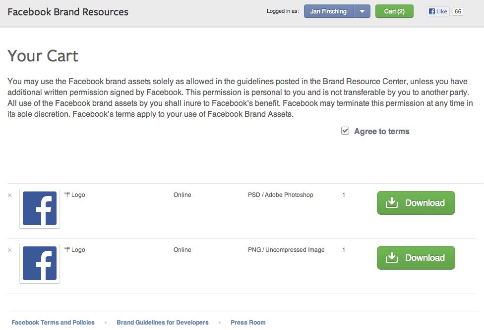 Facebook Markengehnemigungen - Download