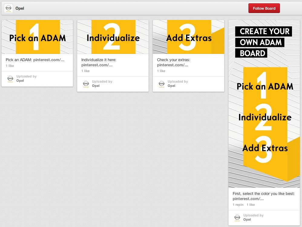 Pinterest Kampagne - Opel Adam