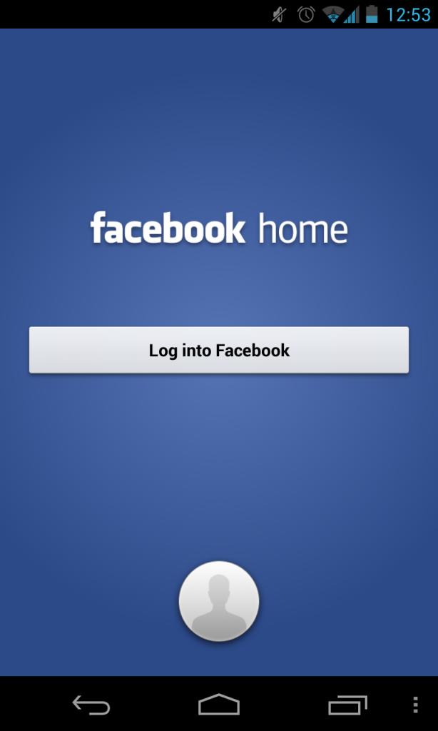Facebook Home Login