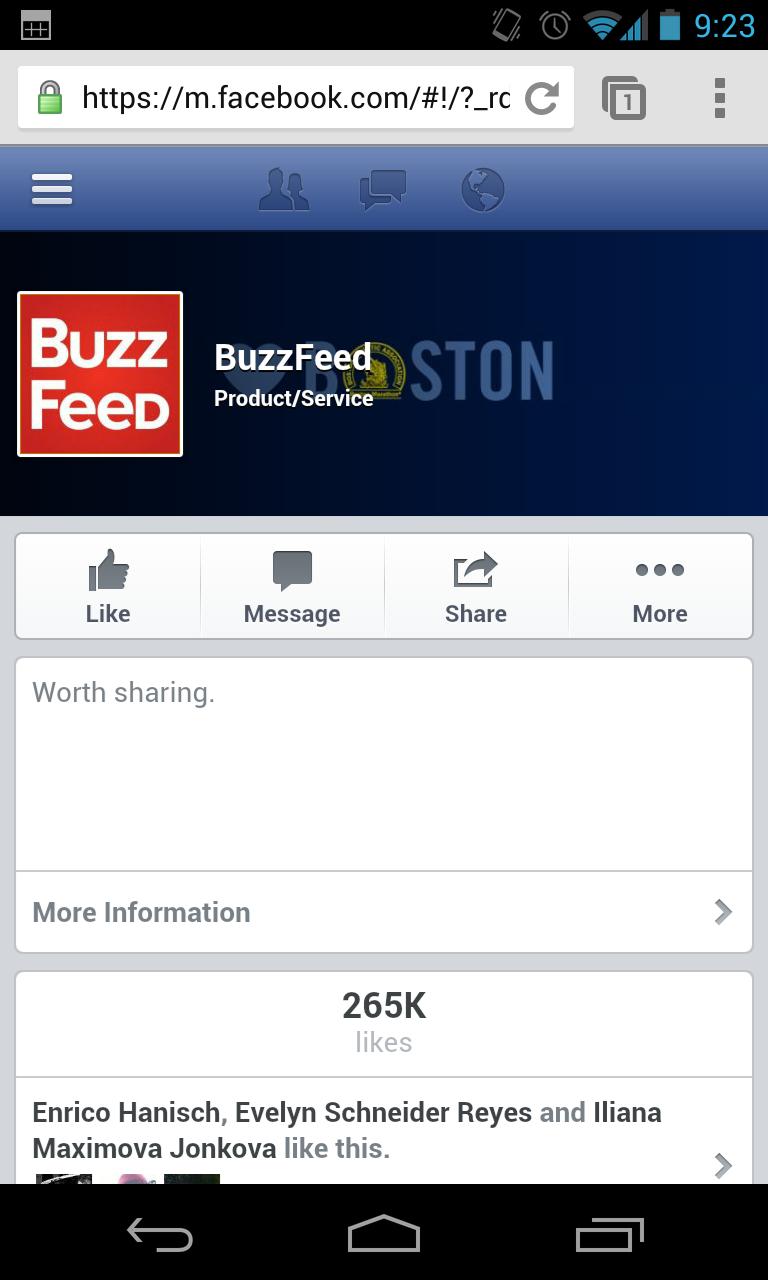 Facebook Mobile - Design Seiten
