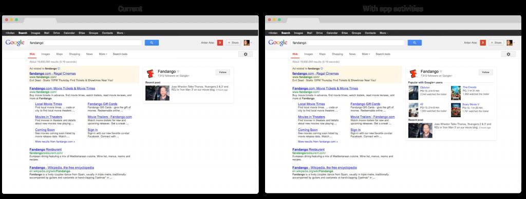 Google+ Login - App Aktivitäten Google+ Suche
