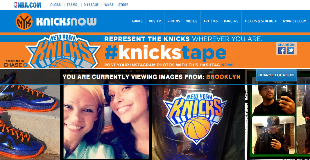 Instagram Kampagne New York Knicks - Knickstagram