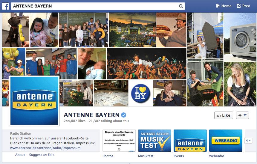 Facebook Branchenreport - Radiosender Deutschland