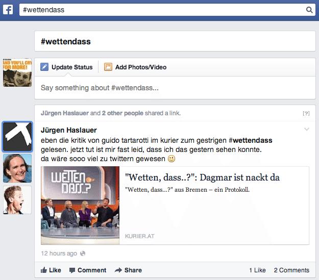 Facebook TV Daten - ZDF ProSiebenSat.1