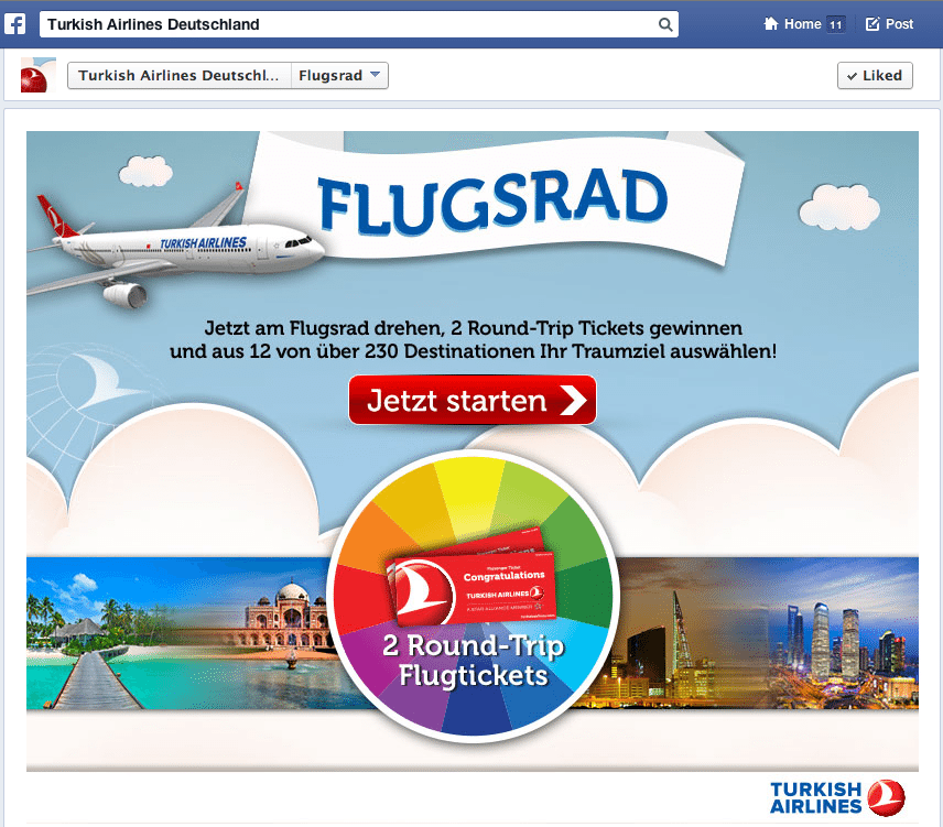 Deutsche Facebook Kampagnen - Turkish Airlines Deutschland