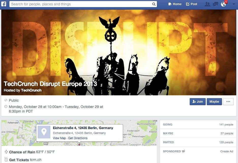 Social Commerce Eventbrite - Facebook Events Tickets