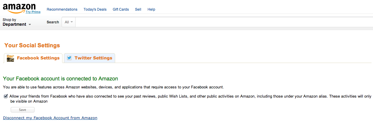 Amazon Social - Opt Out