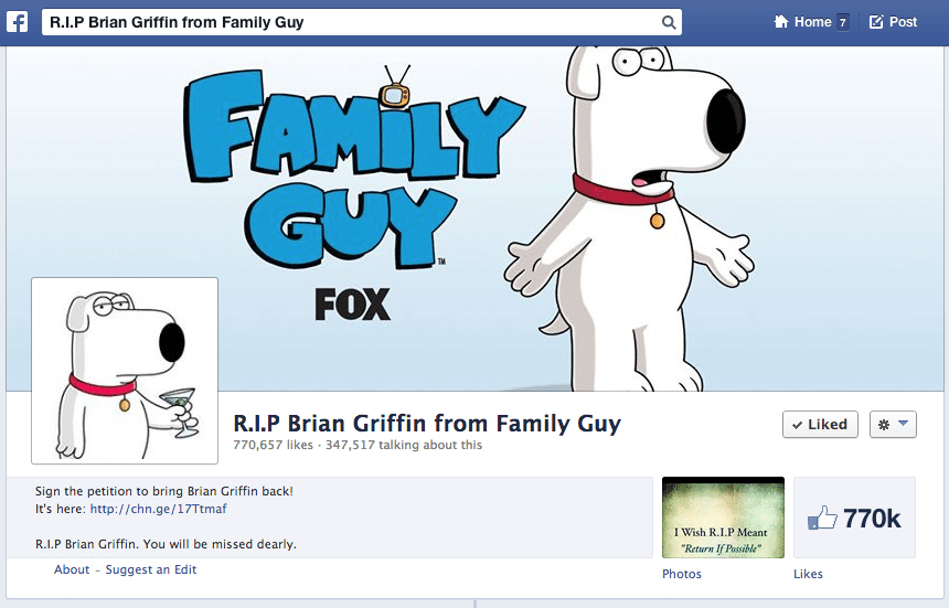 Family Guy - Nutzerreaktionen Facebook