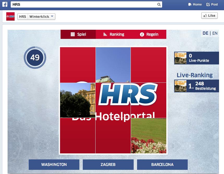 Deutsche Facebook Kampagnen - HRS Winterklick