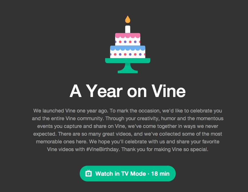 Ein Jahr Vine