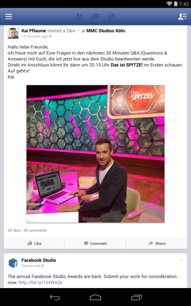 Facebook Q&A - News Feed