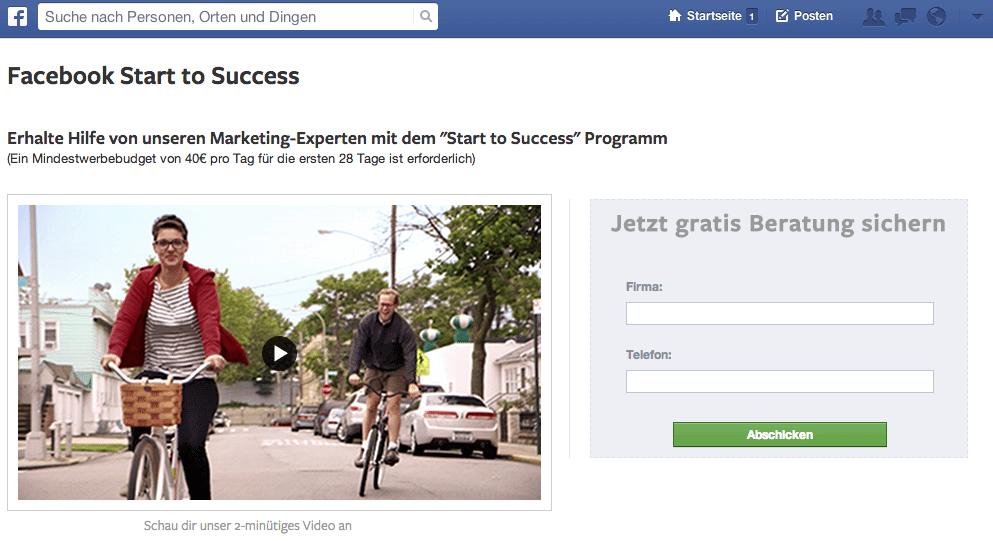Facebook Start to Success - Beratung KMUs