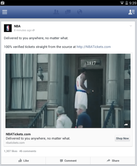 Facebook Auto-Play Videos in Kombination mit Call-To-Action Buttons