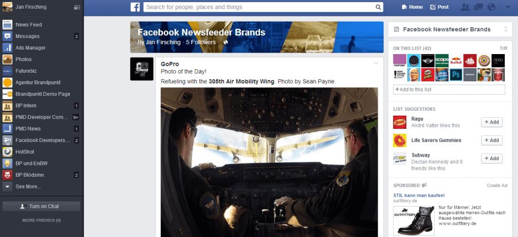 Alte Neue Version Facebook News Feed