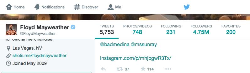 Neuees Twitter Design - Profilbild und Hintergrundbild verkleinerte Darstellung