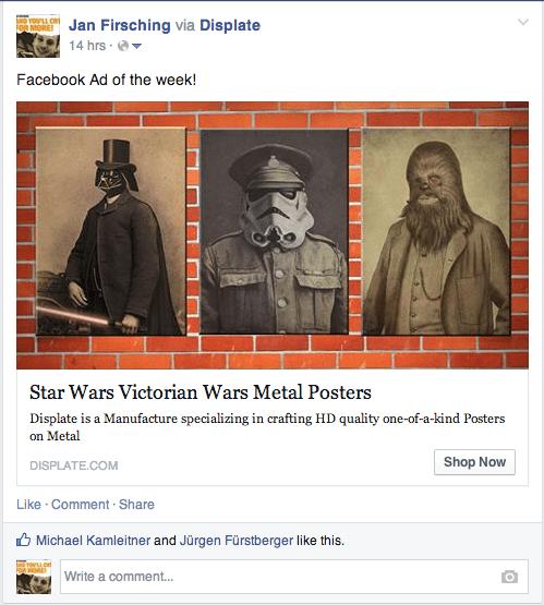 Verkaufen auf Facebook - News Feed Anzeigen