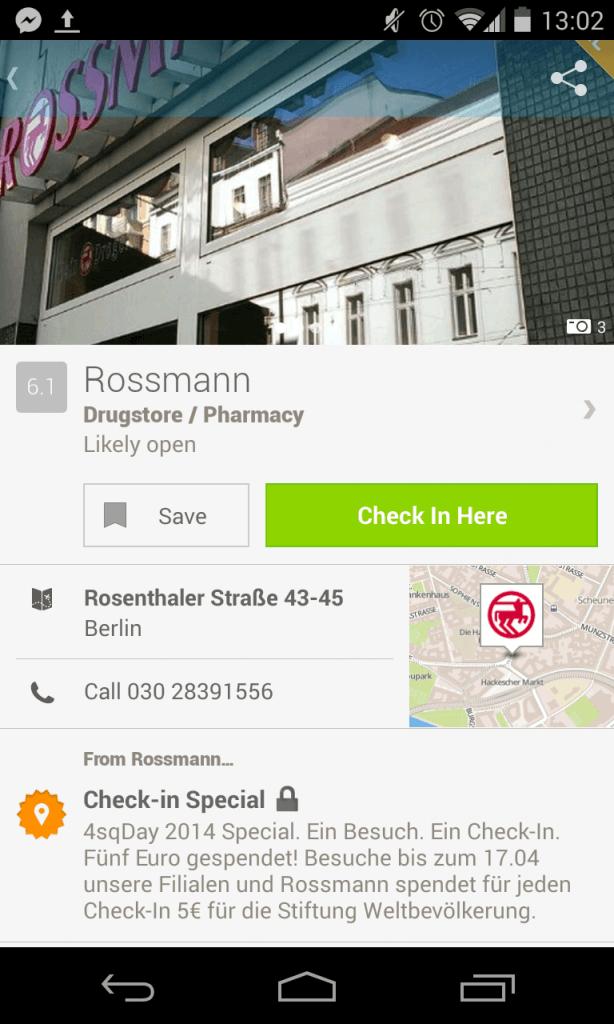 Rossmann Foursqaure Day 2014