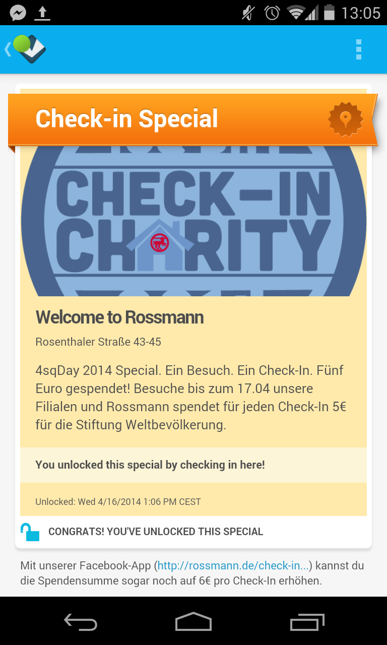 Rossmann Foursqaure Day 2014 Badge