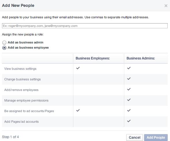 Facebook Business Manager - Admin Rollen