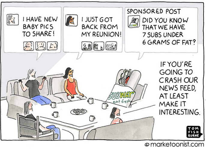 Facebook Sponsored Post Cartoon