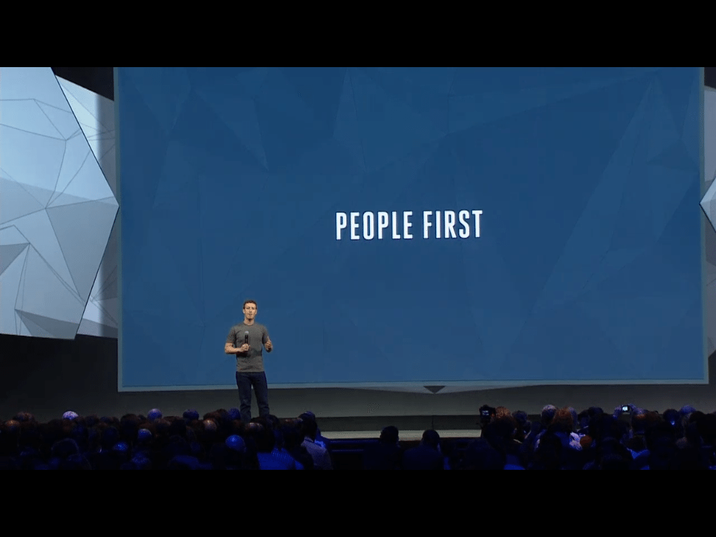 people first - Mark Zuckerberg F8