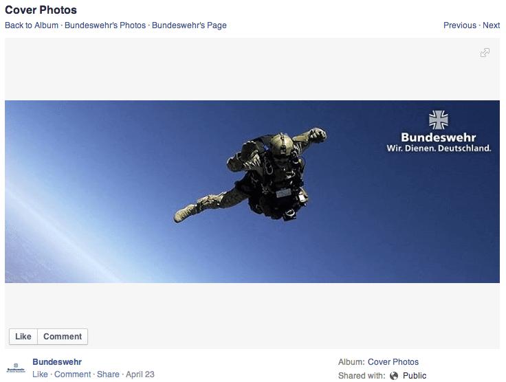 Bundeswehr auf Facebook - Contenterstellung