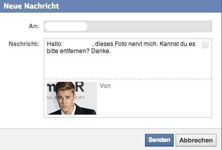 Facebook Seiten - Negatives Feedback per Facebook Direktnachrichten übermitteln 3