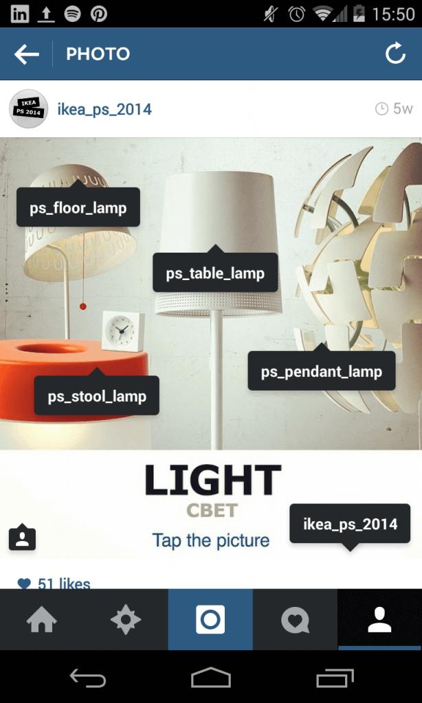 Instagram Kampagne - IKEA mit mehrerer Accounts
