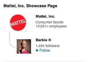 Mattel Showcase Seite - Darstellung