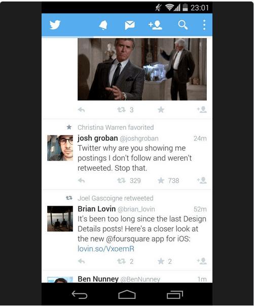 Twitter Favoriten Stream