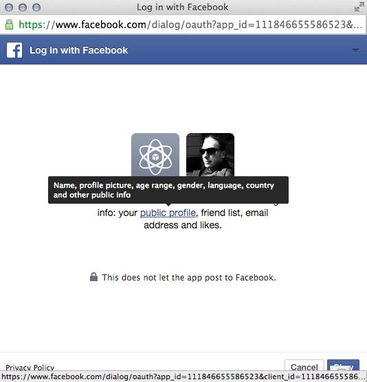 Facebook Berechtigungen - öffentliche Informationen abfragen